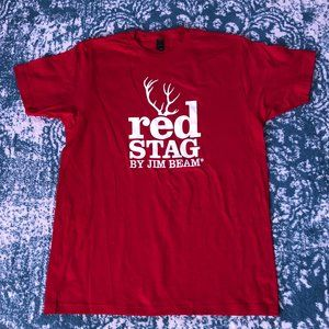 Men's Red Stag T-Shirt Size Large